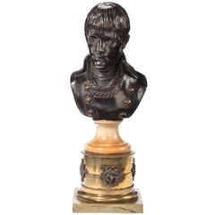 Early 19th Century Patinated Bronze Bust of Napoleon by Louis-Simon Boizot