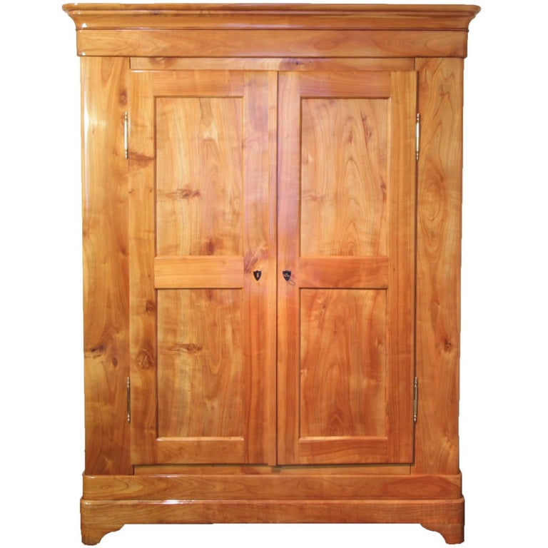 19th Century Biedermeier Cherrywood Wardrobe from Germany