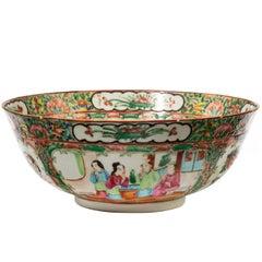 Late 19th Century Cantonese Enameled Porcelain Bowl