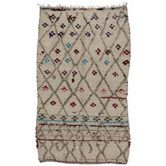 Vintage Berber Moroccan Azilal Rug