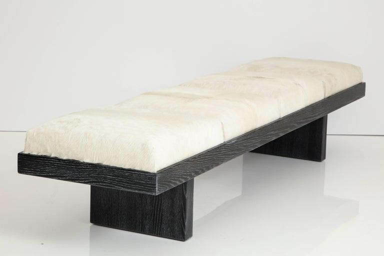 Harvey Probber Cerused Oak Bench For Sale 1