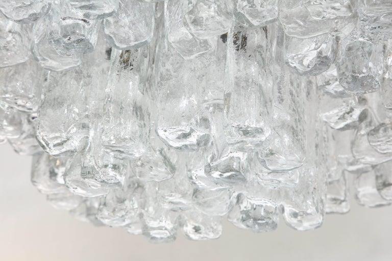 Austrian Kalmar Ice Glass Flush Mount For Sale