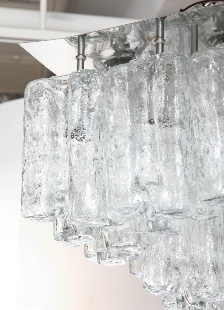 20th Century Kalmar Ice Glass Flush Mount For Sale