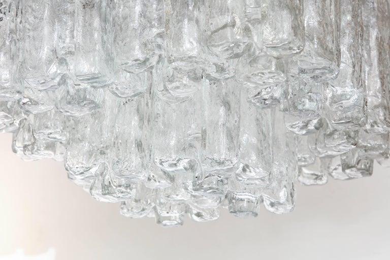 Stainless Steel Kalmar Ice Glass Flush Mount For Sale