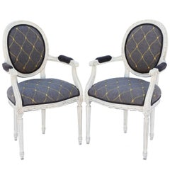 Pair of Painted Louis XVI Fauteuils