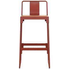 """""""Mingx"""" Indoor Steel High Stool with Back by Konstantin Grcic for Driade"""