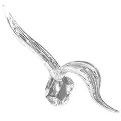 """Vintage Murano Glass Sculpture by Licio Zanetti """"Bird at Flight"""""""