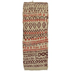 Vintage Berber Moroccan Runner with Modern Tribal Style