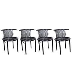 Set of Four Rare Mid-Century Chairs by Lübke