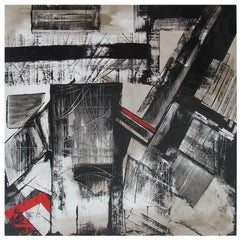 Abstract Painting Titled Urban Exposure No. 17 by Philippe Chambon