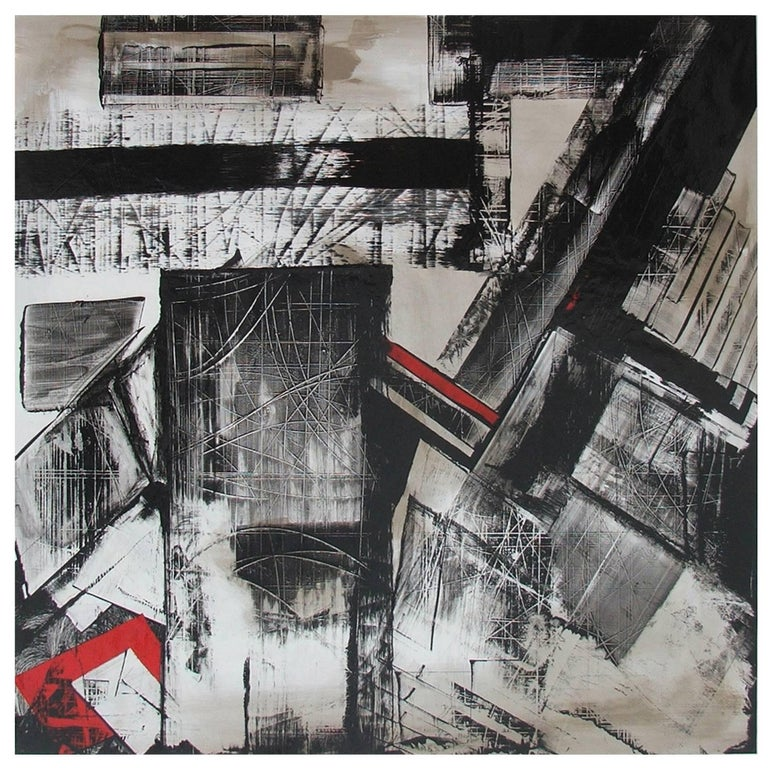 Abstract Painting Titled Urban Exposure No. 17 by Philippe Chambon For Sale