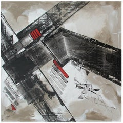 Abstract Painting Titled Urban Exposure No. 19 by Philippe Chambon