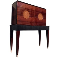 Mid-Century Modern Italian Rosewood Bar Cabinet attributed to Paolo Buffa, 1950s