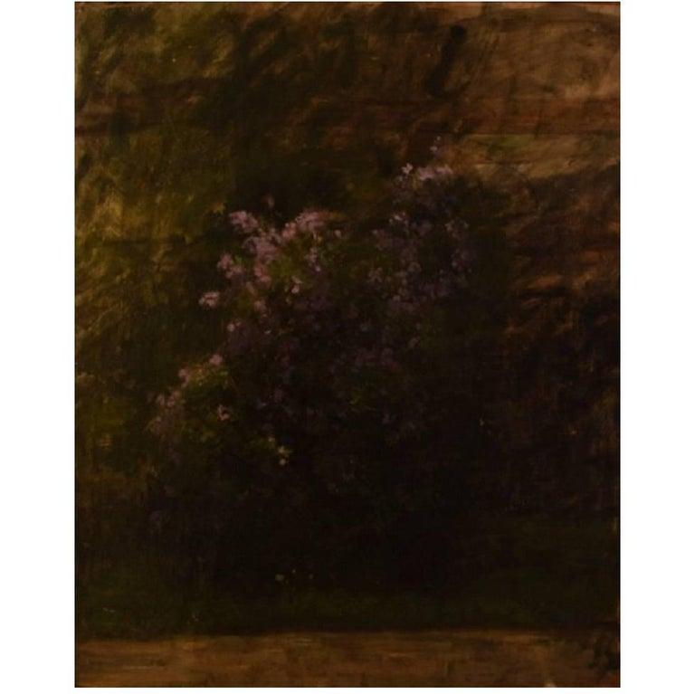 Danish Flower Painter, Early 20th Century, Flowers in Landscape, Oil on Board