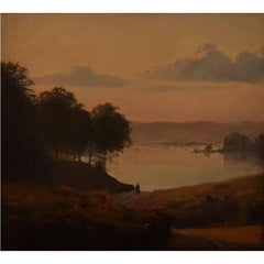 Andersen-Lundby Anders, Danish Landscape, Oil on Wood