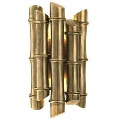 Spa Wall Light in Vintage Brass or Polished Stainless Steel Finish
