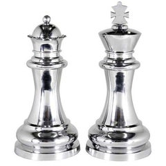Queen and King Set of Two in Aluminium Finish