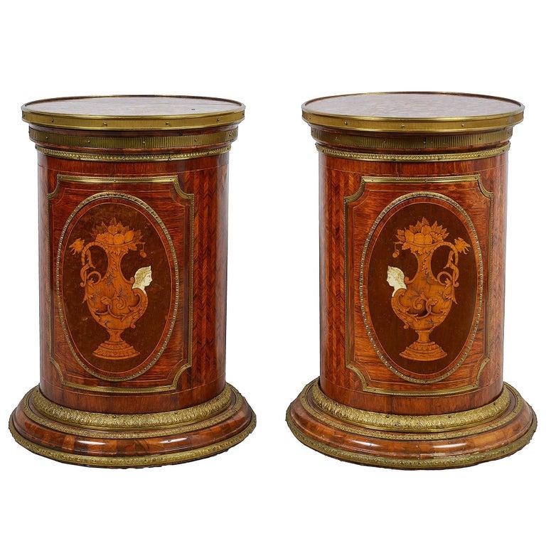 Pair of Neoclassical 19th Century Pedestals