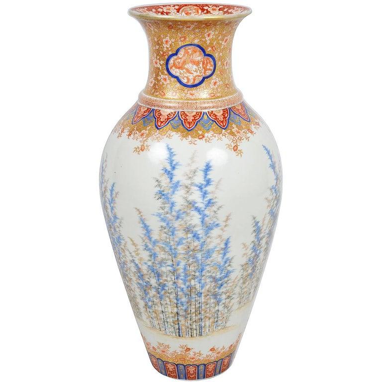 Fine Japanese Fukagawa Vase At 1stdibs
