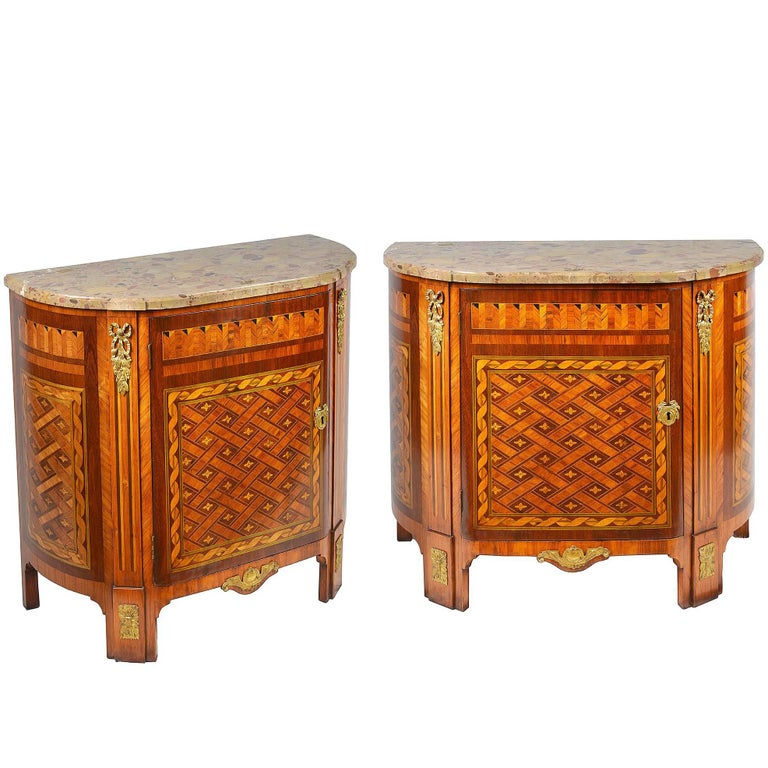 Pair of Louis XVI Style Side Cabinets, 19th Century