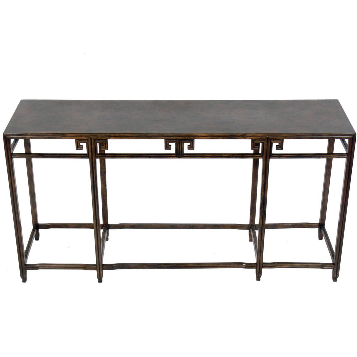 Asian Influenced Console Table By Baker For Sale