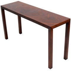 Clean Lined Rosewood Console Table