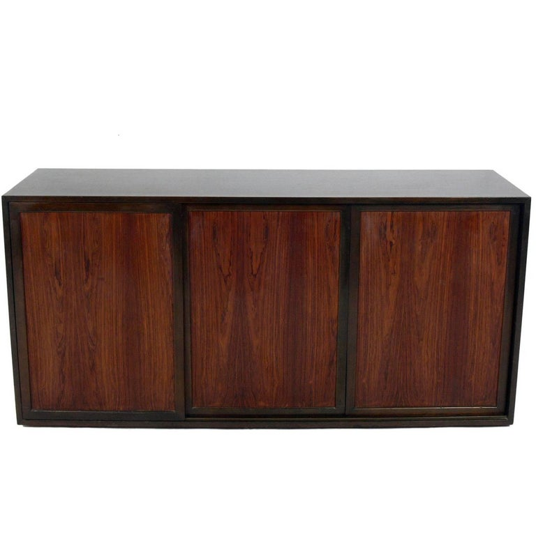 Modern Rosewood Chest or Credenza Designed by Harvey Probber