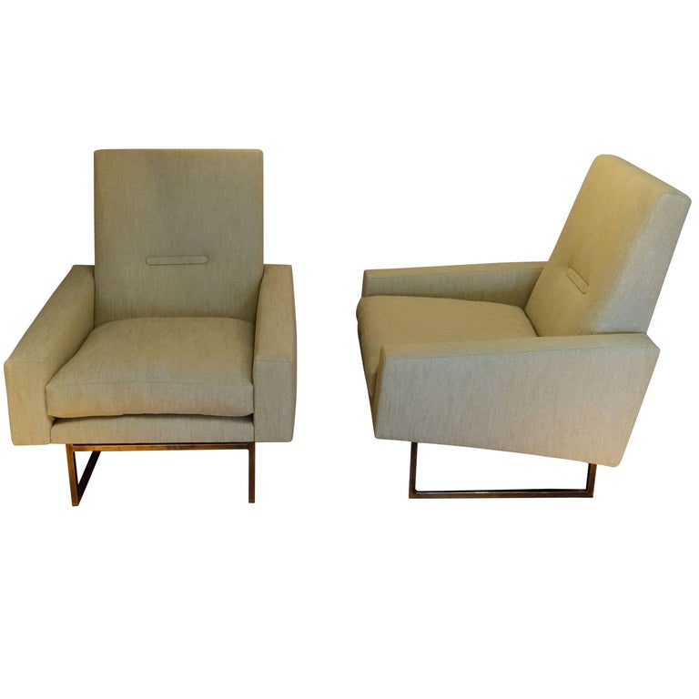 Pair of Upholstered Side Chairs, France, 1960s