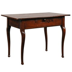19th Century French Side Table with One Drawer