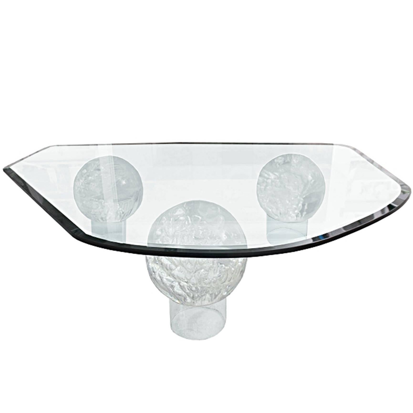 Stunning Lucite Coffee Table in the Style of Charles Hollis Jones