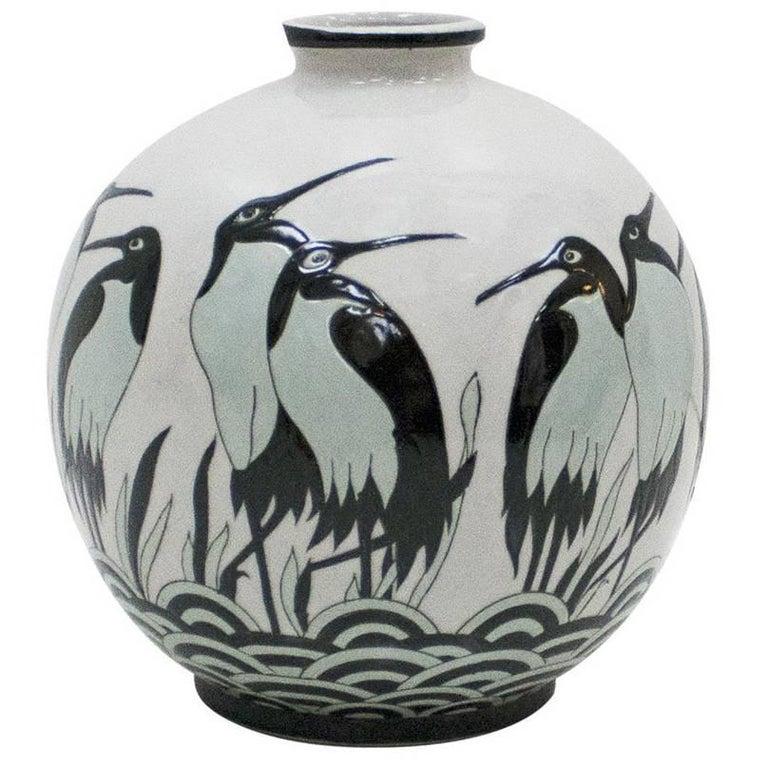 Art Deco Porcelain Vase For Sale