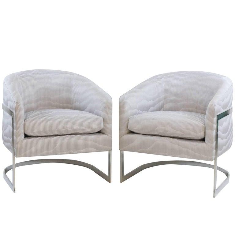 Art Deco Steel Bucket Chairs
