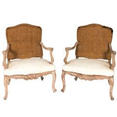 Louis XV Style Open Armchairs