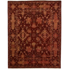 New Contemporary Oushak Style Rug with Jacobean Style