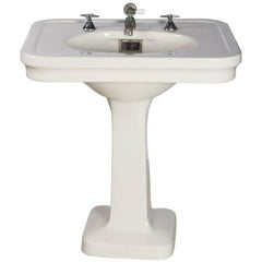 Medium Sized China Pedestal Sink