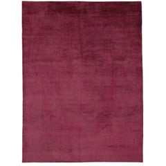New Modern Raspberry-Magenta Contemporary Rug with Transitional Bohemian Style