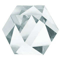 Large Faceted Lucite Sculpture by Amparo Calderon Tapia