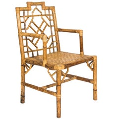 Chinoiserie Style Rattan Chair
