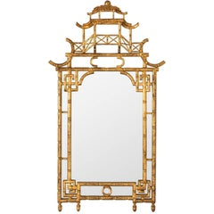 Chinoiserie Style Mantel Mirror