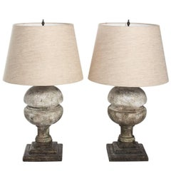 Pair of Faux Stone Lamps