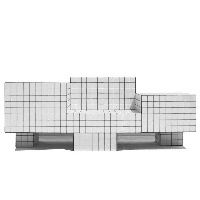 TS I Tiled Loveseat in Ceramic Tile by Nima Abili