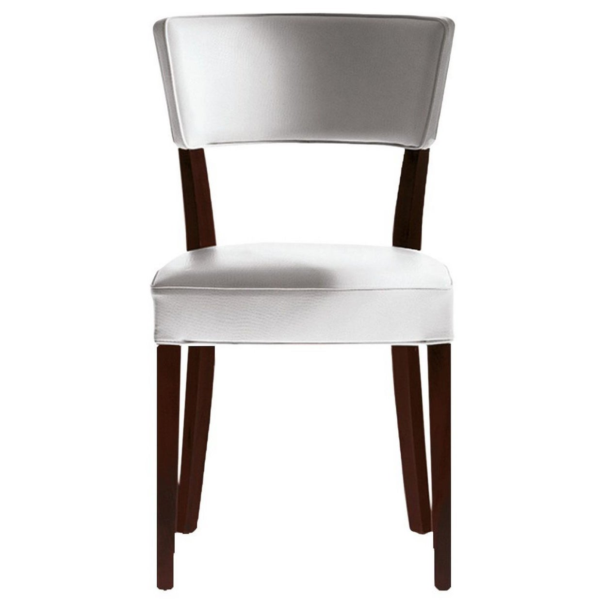 """""""Neoz"""" Dining White Chair in Mahogany Designed by Philippe Starck for Driade"""