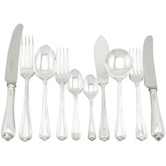 1980s-1990s Sterling Silver Canteen of Cutlery for Eight Persons