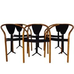 Rare Set of 1980s Tripod 'Tacchi' Chairs by Toshiyuki Kita for AIDEC Japan