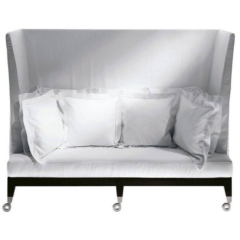 """Neoz"" Castored Three-Seat High Back Sofa Designed by P. Starck for Driade"