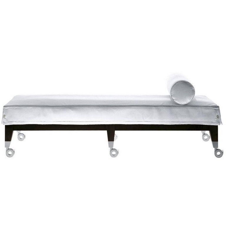 """""""Neoz"""" Castored Mahogany Daybed Designed by Philippe Starck for Driade"""