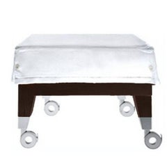 """Neoz"" Castored Mahogany Ottoman Designed by Philippe Starck for Driade"