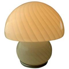 Gino Vistosi Style Murano Art Glass Mushroom Lamp