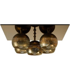 Five-Shade Flush Mount Ceiling Light by Arredoluce