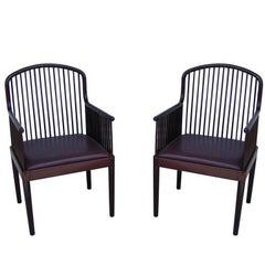 Pair of Mid-Century Stendig Knoll Exeter Andover Davis Allen Arm Chairs